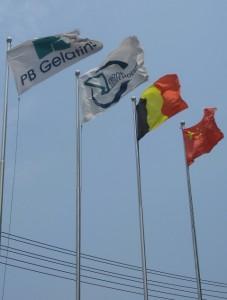 Onze wachters zijn er zelfs 'n keer in geslaagd de Chinese vlag onderste boven te hangen...prutsers